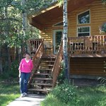 Cabin 8 - shady patio