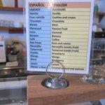 ice cream flavor with English translation