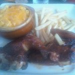 My bbq chicken and mac n cheese