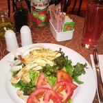 Una ensaladita en el Tabacchi