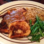 Crawfish Étouffée over Blackened Tilapia, Green beans, and Dirty Rice brought back the taste of