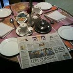 Breakfast Table reminiscent of old days