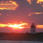 Beautiful Sunset coming around the Cape back to Provincetown MA