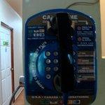 The communal phone at El Oasis Hotel