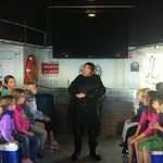 Diver Ed talking to the kids