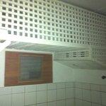 Lattice work in suite bathroom - traps dirt