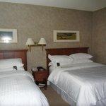 Double Queen beds in separate bedroom