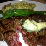 """the steak dinner that was ordered """"medium well"""". was sent back TWICE and still wasn't able to ea"""