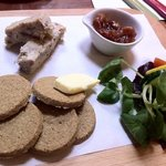 delicious mackerel pate, oatcakes & home made chutney