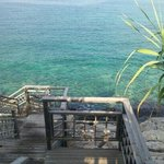 Accesso al mare messo a disposizione per i clienti del ristorante