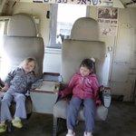 в салоне военного самолета