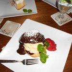 Profiterole for dessert