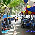 Bangsaen beach side local food and drink