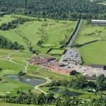 Greetham Valley Hotel and grounds from the air