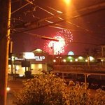 Friday Night Fireworks from our Deck at The Marlane