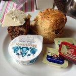 mmmm cream scone!