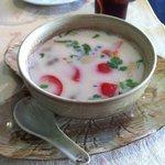 soupe poulet, coco et galanga