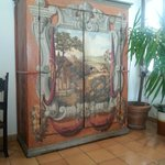 The beautiful painted wardrobe in the lounge area