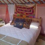 Inside Willow Yurt