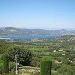 Uitzicht richting St Maxime vanuit het dorp Gassin