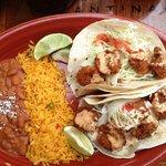The Shrimp Tacos! Yummy!