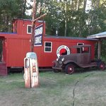 Caboose outside One Marigold cabin