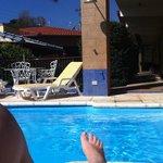 Área de lazer com piscina climatizada