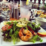 Shrimp and peach salad. My favorite meal of the week!