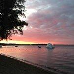 The beach, Lake Bemidji, the Iceberg that the kids love!