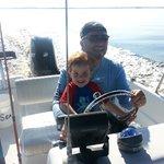 Papa & SyFy on The Boat