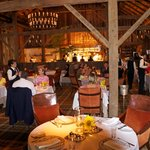 Main dining area in barn