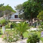 Courtyard garden at Les Prateaux