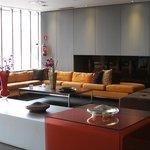 Sleek modern lobby