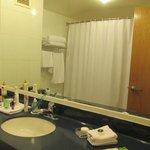 baño muy comodo y muy limpio,buenas toallas