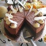 Yummy desserts and fresh fruit.