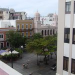 Photo from hotel overlooking Plaza outside front door