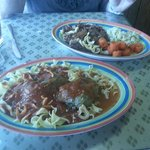 Nice sized portions...Stuffed Peppers and Goulash