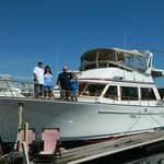 Our very own yacht for the weekend!