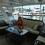 The aft deck with view in the background