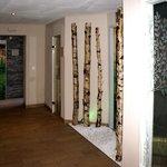 Partie du Centre Wellnes avec  sauna infrarouge en bain vapeur
