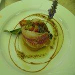 Roulade de rouget aux petits légumes confits à l'huile d'olive