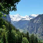 View of the Lauterbrunnen valley from our picnic spot near Wengen