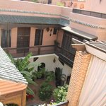 The view on the Riad from the roof terrace