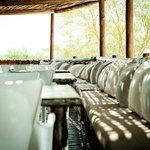 The deck of Daw Restaurant