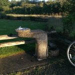The only water fountain on the Galloping Goose is located in Colwood Creek Park by Brittany Dr