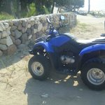 our mode of transport  150cc Quad 18 euros to hire