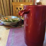 The broken jug on the restorant