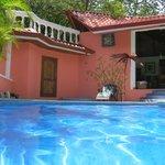Pool and cabana.
