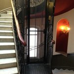 The hotel's quirky retro lift
