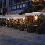 Taverna Belvedere in the evening.
